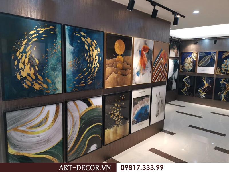 showroom trung bay tranh trang guong 2 2  - Tranh tráng gương-Album hình ảnh thực tế lắp đặt cho khách hàng PART 1