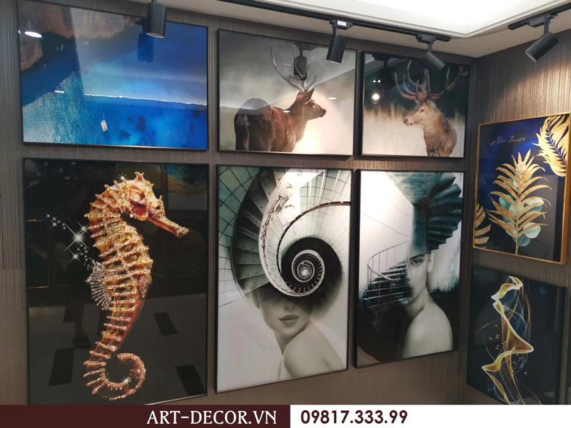 showroom trung bay tranh trang guong 2 3  - Tranh tráng gương-Album hình ảnh thực tế lắp đặt cho khách hàng PART 1