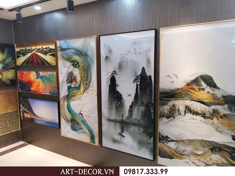 showroom trung bay tranh trang guong 3 - Tranh tráng gương-Album hình ảnh thực tế lắp đặt cho khách hàng PART 1